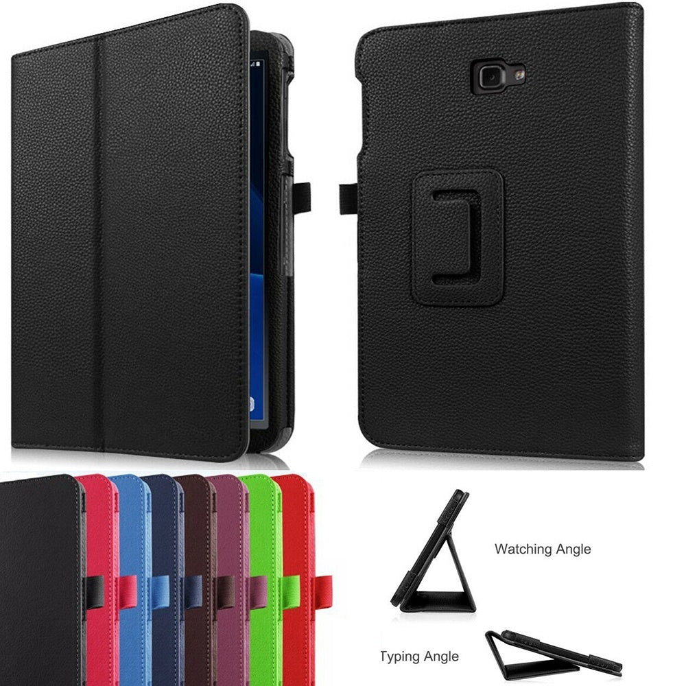 Ultra Slim Smart Leather Case Tablet Cover Stand Funda Flip For Samsung Galaxy Tab A 10.1 T580 T585 2016