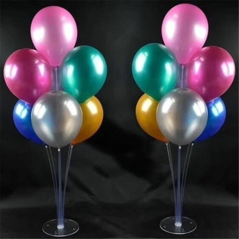 Balloon Stand Clear Plastic Balloon Stick Birthday Party Decoration Kids Wedding Balloons Decoration