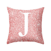 Load image into Gallery viewer, 45CM*45CM 26 Letters Cushion Silver Throw Pillow Case Cover Home Sofa Bed Decor
