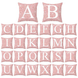 45CM*45CM 26 Letters Cushion Silver Throw Pillow Case Cover Home Sofa Bed Decor