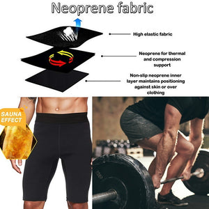1Pc Men Compression Neoprene Shorts Slimming Shaper Wear Sweat Pant
