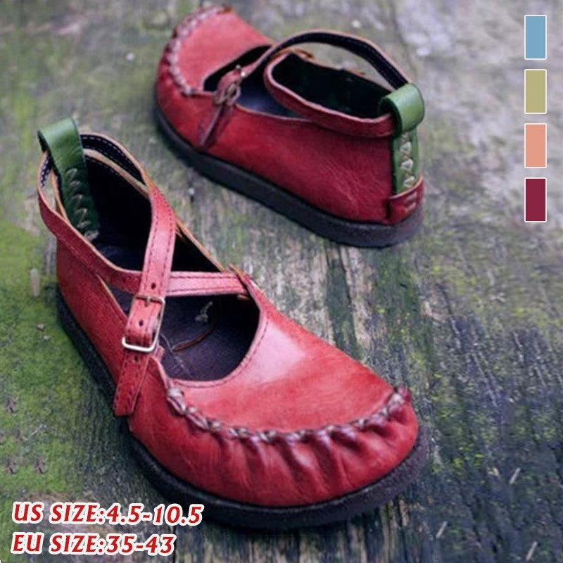 Women's Summer Spring Autumn Genuine Leather Handmade Loafers Soft Flat Casual Shoes Women's Moccasins