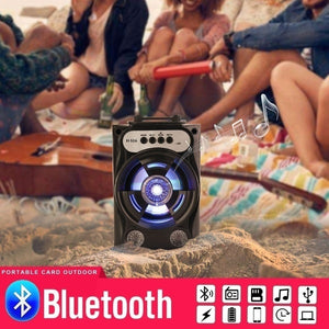 Bluetooth Speaker Wireless Sound System Bass Stereo LED Light Support TF Card FM Radio Outdoor Sport Travel Large Size