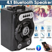 Load image into Gallery viewer, Bluetooth Speaker Wireless Sound System Bass Stereo LED Light Support TF Card FM Radio Outdoor Sport Travel Large Size