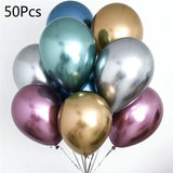 50pcs 12inch Latex Balloons Wedding Party Decor Globos Metalicos Thick Pearl Metallic Latex Ballon