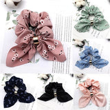 Women Satin Ribbon Bow Hair Band Rope Ponytail Holder Gum for Hair Accessories
