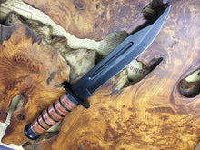 Load image into Gallery viewer, Military Combat Survival Outdoor Jungle Rescue Fixed Blade Knife