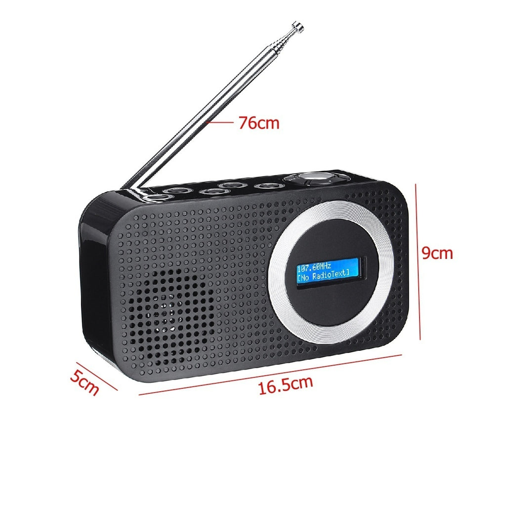 Portable Digital DAB FM RDS Radio with LCD Display & AUX Speaker Function & bluetooth speaker