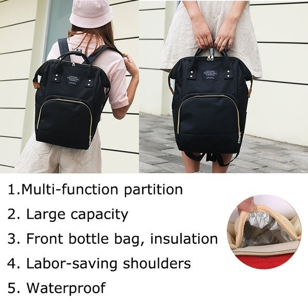 2019 New 2 Styles Large-capacity multi-function Mummy bag travel backpack Portable Outdoor Maternity Nappy Tote Bag