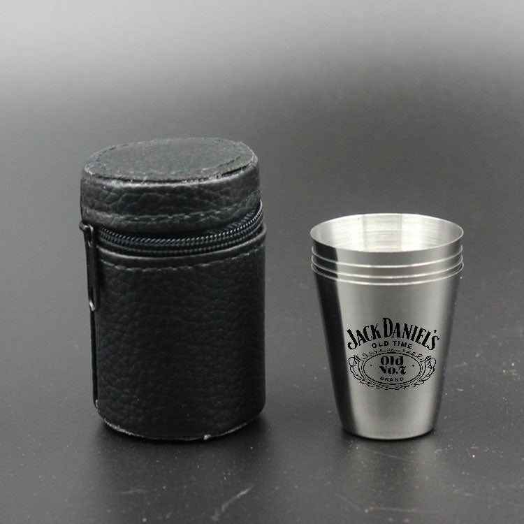 Whiskey Cups Mini Metal Cups Durable Liquor Test Drinking 30ml Cups