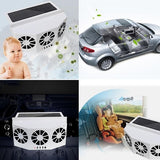 Solar Powered Car Window Air Vent Ventilator Mini Air Conditioner Cool Fan