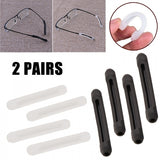 2 Pairs Silicone Anti-Slip Eyeglass Glasses Temple Tips Ear Grip Hook Holder 2 Colors