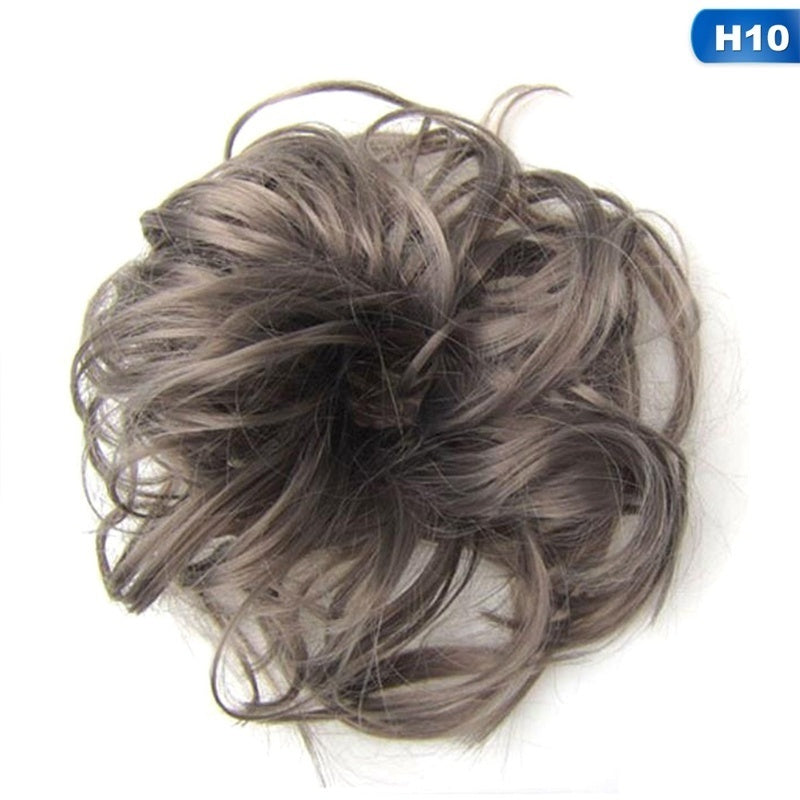 Hair Extension Scrunchie Wrap Messy Bun Updo Curly Ponytail Chignon