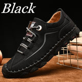 Leather Shoes for Men Casual Handmade Loafers Business Shoes Outdoor Hiking Shoes Plus Size EU38-46