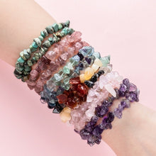 Load image into Gallery viewer, 7 Chakra Natural Stone Bracelets Yoga Lazuli Reiki Healing Chips Crystal Strand Gemstone Beach Anklet Amethyst Rose Quartz Bracelet for Women Men Fashion Jewelry Accessorises1PC