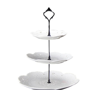 Cake Plate Stands 2 /3 Tier Cake Plate Stand Cupcake Fittings Silver Golden Wedding Party Plates Stand
