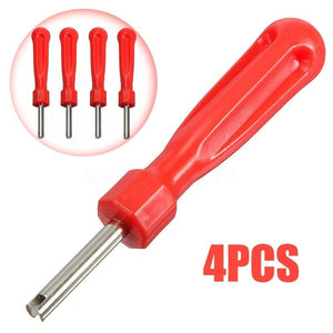 4pcs Tyre Valve Core Remover Removal Wrench Tire Repair Tool Screw Driver