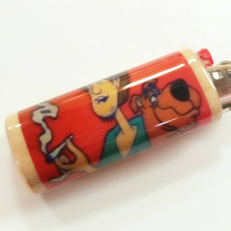 Scooby Joint Lighter Case Holder Sleeve Cover Fits Bic Lighters