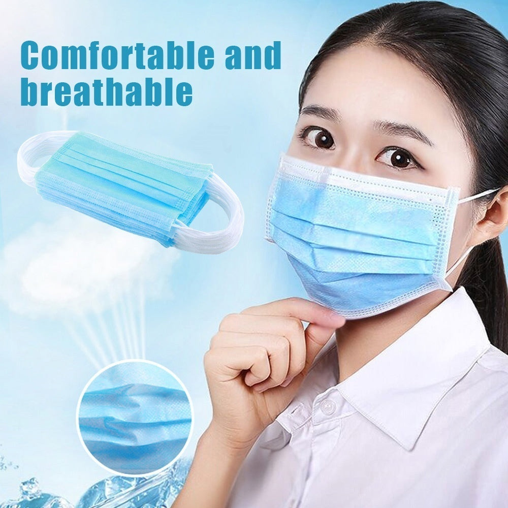 25/50Pcs Earloop Medical Dental Nail Health Disposable Face Mouth Masks 3Ply Thickened Nonwoven Face Mask Anti Fog And Haze Dustproof Health Care Mask