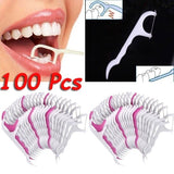 100 Pcs/Pack Floss Oral Care Teeth Cleaner Dental Floss Flosser Brush Tooth Picks Oral Care Teethpick Sword Health & Beauty Tools