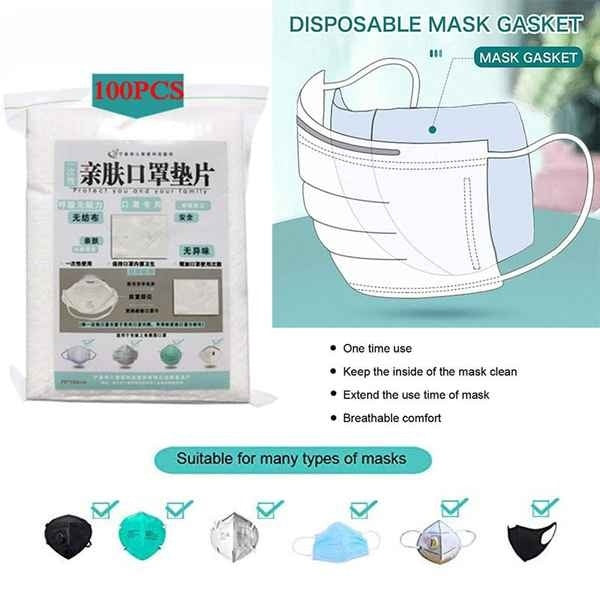 100/200 PCS Filtre de masque  Activated Carbon Filter Disposable Face Mask Breathing Insert Protective Mouth Mask Filter Disposable Filter Dust-Proof Breathable Isolation Pad Replace Mask Gasket