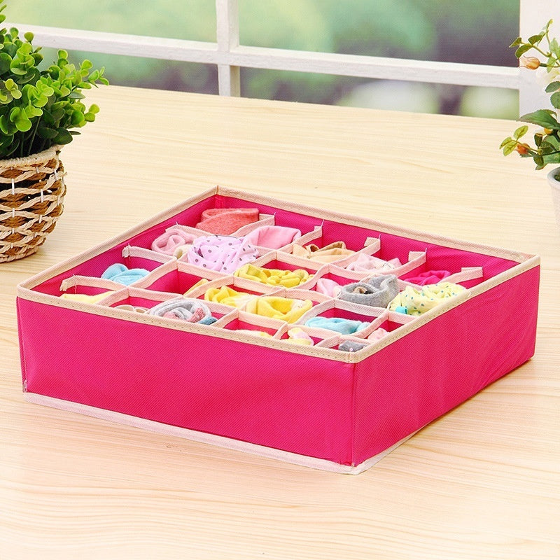 One Pc Underwear Bra Storage Box Storage Box Beige Drawer Cabinet Storage Box Underwear Box Scarf Socks Storage Bag