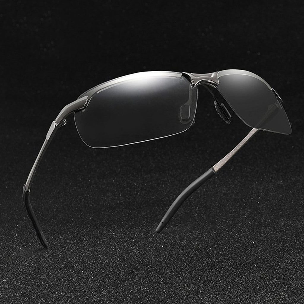 Photochromic Sunglasses Men Polarized Chameleon Discoloration Sun Glasses