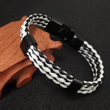 Load image into Gallery viewer, 1 PCS Fashion Leather Bracelet Men's Leather Buckle Buckle Hand-woven Multi-layer Men's Leather Bracele