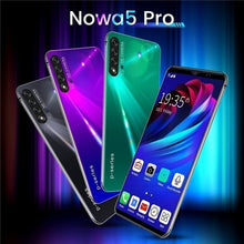 Load image into Gallery viewer, NOWA5 Pro 6.1inch Mobile Phone 8   128GB Large Memory 10 Core Android 9.1 System with Face Recognition Fingerprint Unlock Support Dual Card Dual Standby Smart Full Screen HD Mobile Phone