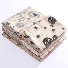 Load image into Gallery viewer, Vintage Europe Styles Natural Cotton Linen Fabric Cloth Sewing Craft Remnants Knitting Supplies
