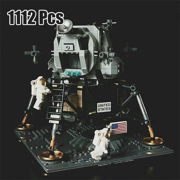 1112Pcs Creator Series Mode Moon Landing Building Bricks Blocks Kits Educational Toys Childrens Gifts(No Original Box )