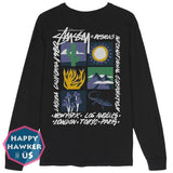 Hahaus   Stussy 20S High Desert Highland Desert Long-Sleeved T-Shirt Us Purchasing