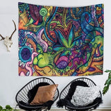2020  Vintage Multicolor Wall Tapestry Psychedelic Retro Pattern Hippie Mandala Bohemian Tapestry Ethnical Religious Tapestry Abstract Intricate Wall Decor for Bedroom Living Room