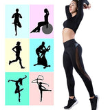 2019 Women Leggings Sexy Pants Push Up Fitness Gym Leggins Running Mesh Leggins Seamless Workout Pants Femme High Waist Mujer
