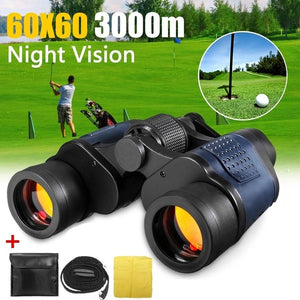 60x60 3000M Binoculars Optical Night Vision HD Waterproof Miltary Hunting Binoculars Telescope For Outdoor Hunting Camping
