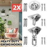 180¡ã/360¡ã Heavy Duty Stainless Steel Heavy Bag/Swing Hangers 550 LB Capacity Swing Hooks With Screw for Concrete Ceiling Wooden, Yoga Hammock Gym Swing Sets