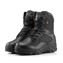 Load image into Gallery viewer, Delta Military Tactical Boots Leather Desert Outdoor Combat Army Boots Hiking Shoes Travel Botas Male Trekking
