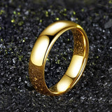 Classic Men Women Rainbow Colorful Ring Titanium Steel Wedding Band Ring Width 6mm Size 7-11 Valentine's Day Gifts