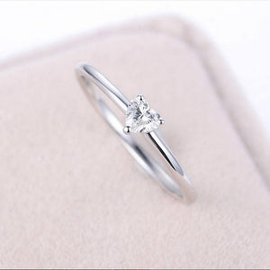 Minimalist Jewelry Heart Zircon Ring Gold Tiny Rings for Women Wedding Ring