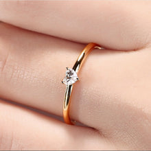 Load image into Gallery viewer, Minimalist Jewelry Heart Zircon Ring Gold Tiny Rings for Women Wedding Ring