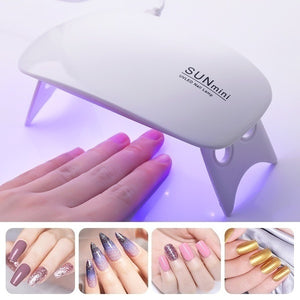 6W UV Gel Lamp LED UV Lamp Nail Gel Curing Machine USB Cable Mini Nail Dryer