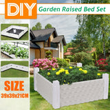 Balcony Vegetable Planting Box Rectangular Home Roof Vegetable Plants Growing Bag Raised Plant Bed Garden Flower Planter Elevated Vegetable Box