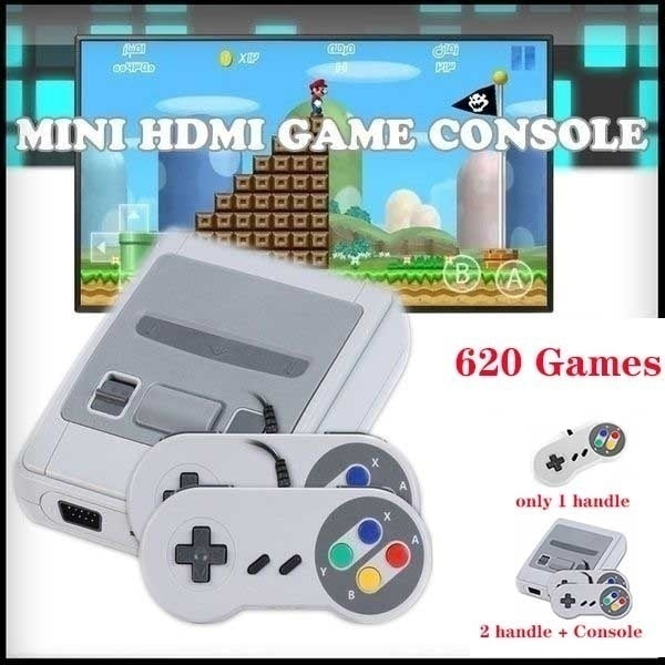 Only 1 Handle/2 Handle & Console  High Quality Mini SNES TV Game Console Classic SFC Retro Nostalgic TV Game Console 620 Game Inside