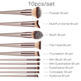1pc/4pcs/10pcs Multifunctional Fashion Professional Champagne Makeup Brushes Set.Suitable For Blush, Loose Powder, Foundation, Blush, Eye Shadow, Concealer, Eyebrow, Nose Shadow, Highlight
