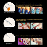 20pcs New UV Gel Nail Dotting Pen + Painting Drewing Polish Brush Pen Tools Set