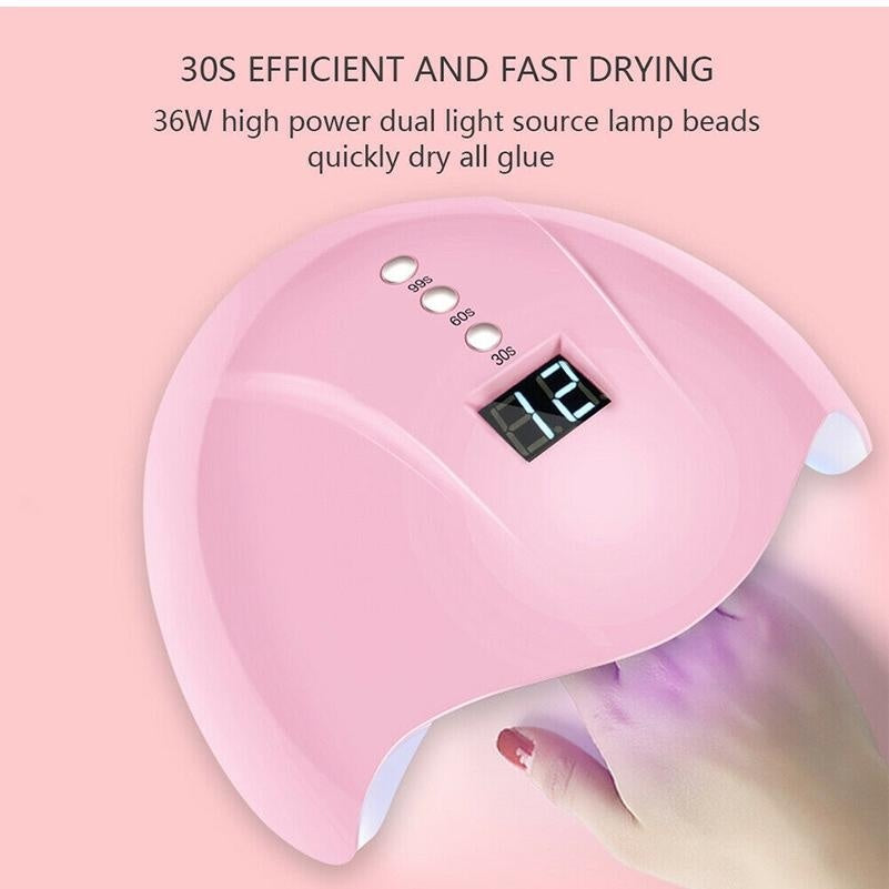 36W Nail Dryer LED UV Nail Lamp with USB Connector Cable -12Pcs UV LEDS