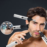 Professional 4 In 1 USB Electric Rechargeable Nose Hair Trimmer Hair Clipper Temple Shaver Personal Care Tools For Men