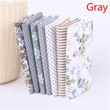 D 7 Pcs/Set Square Cotton Floral Fabric Home DIY Craft Sewing Assorted Color Printed Patchwork Craft Sewing Accessories Knitting Supplies