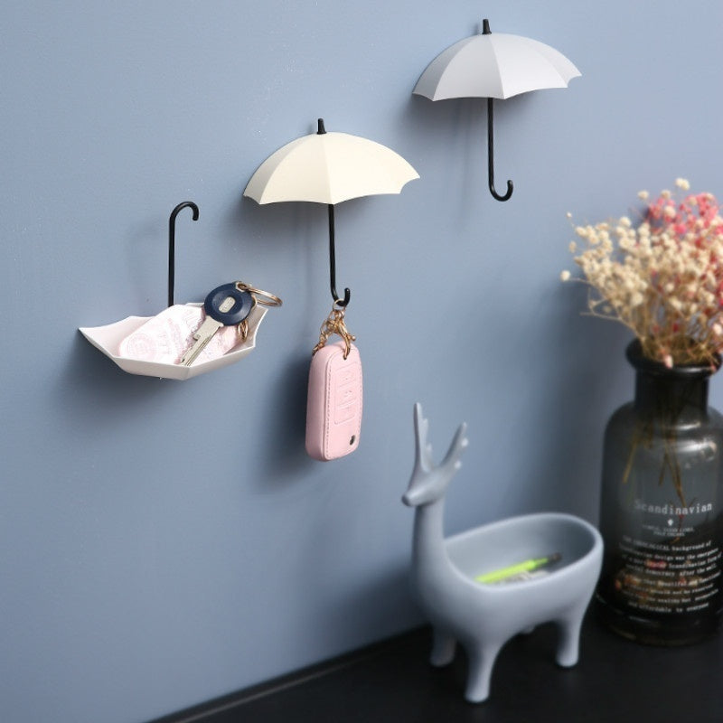 3 Pcs/Set Strong Adhesive Hooks for Bathroom Creative Northern Europe Wall Sticker Wall Decor Clothes Coat Hat Hanger Rustproof Hooks for Kitchen
