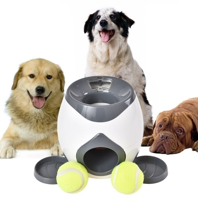 Hot Dogs Pet Interactive Tennis Ball Launcher Jumping Ball Pitbull Toys Automatic Throw Tennis Ball Machine